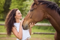 Fashion Photography in Natural Setting with Horse