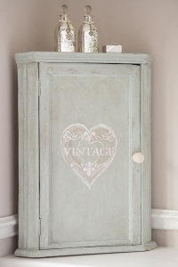 Vintage Corner Cupboard with Internal Shelf