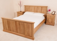 LIght Oak Bed and Bedside Tables Furniture Photography