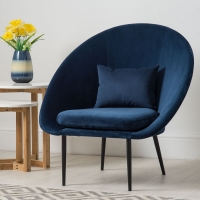 Blue Armchair Lifestyle Furniture Photography