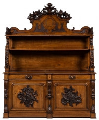 Carved Fench Oak Buffet Antique Furniture Photography