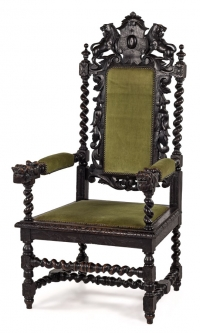 Carved Mohogany Armchair Furniture Photography