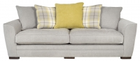 Grey Three-Seater Sofa Furniture Photography