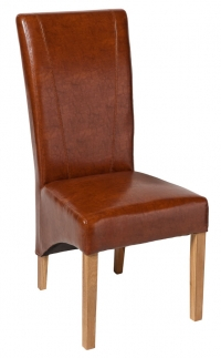 Leather Chair with Oak Legs Furniture Photogrpahy