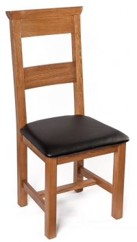Oak Chair with Leather Seat Furniture Photography