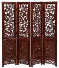 Oriental Carved Mahogany Screen Furniture Photography