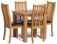 Small Oak Dining Table Set Furniture Photography