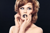 Black Make-up Beauty Studio Photography