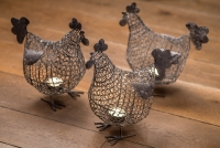 Chicken Tea Light Holders Product Photography