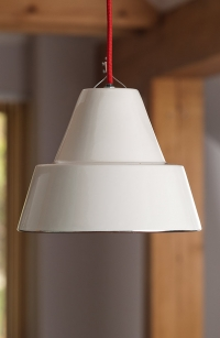 White Porcelain Hanging Light Product Photography